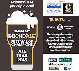 A pub crawl with a difference: the Great Rochd'ale' Festival of Champions Ale Trail 2018